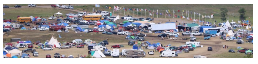 The Oceti Sakowin Camp. Screenshot from the Stand With Standing Rock website.