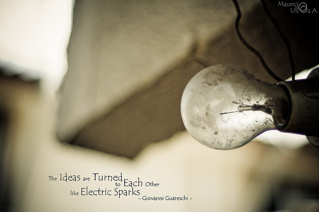 The Ideas Are Turned to Each Other Like Electric Sparks