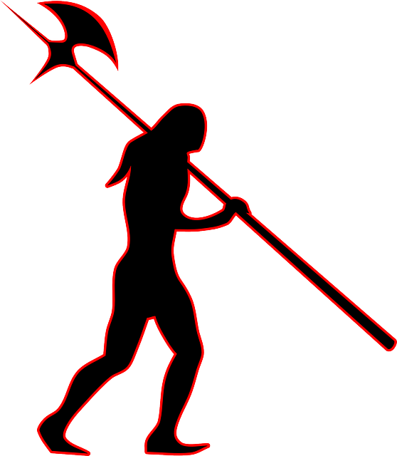 silhouette of barbarian