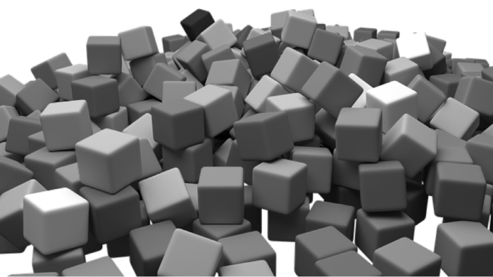 pile of cubes