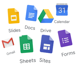 Icons of most well-known Google Tools